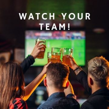 Watch your favorite sports team play at two georges at the cove