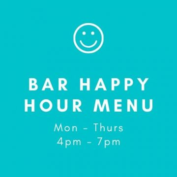Bar happy hour menu two georges at the cove